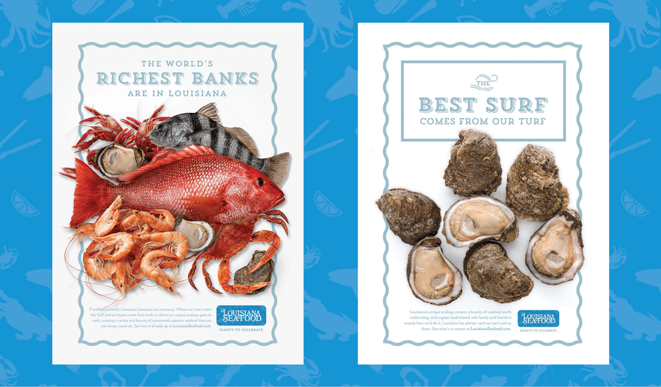 ads featuring oysters and other seafood