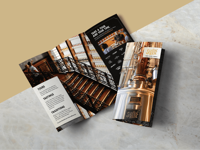 open and closed brochure about sazerac house